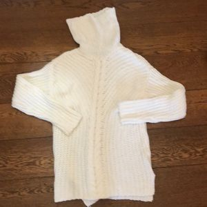 Kensie Chunky Cable Knit Turtleneck Tunic Sweater